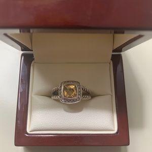 David Yurman Albion Cirtine & Diamond cable Ring 7